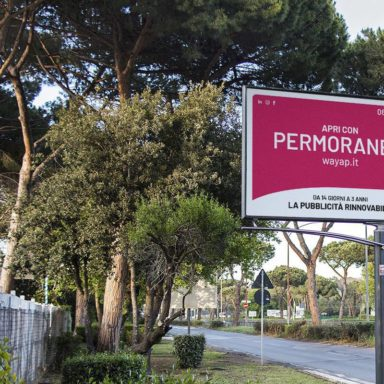 Cartello affissione Permoranea® la pubblicità esterna rinnovabile