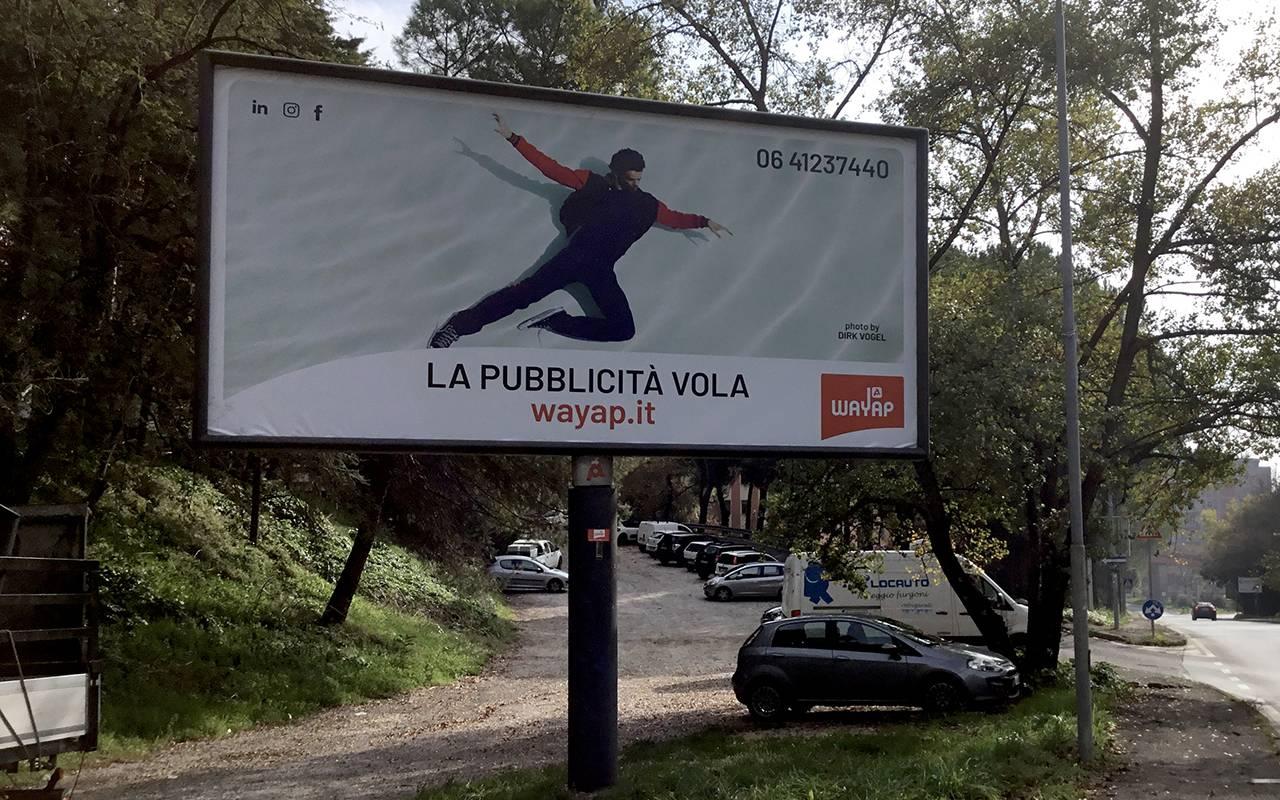 Affissione cartacea 6x3 a Perugia pubblicità Wayap Umbria