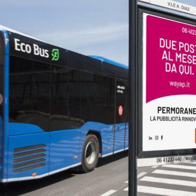Affissione pubblicitaria Viale Armando Diaz a Viterbo