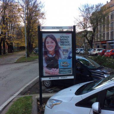 Affissione pubblicitaria Viale Trento a Viterbo