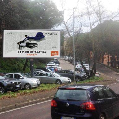 Affissione pubblicitaria Wayap 4x3 Perugia Via Fasani