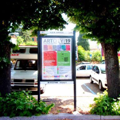 Affissione pubblicitaria a Viale Capocci Viterbo