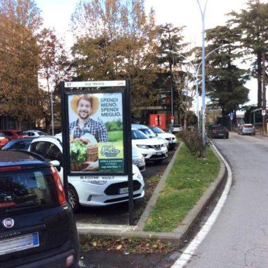 Affissione pubblicitaria multisoggetto Viale Trento a Viterbo