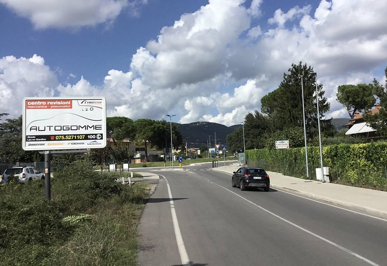 Cartelli pubblicitari Perugia Via Corcianese