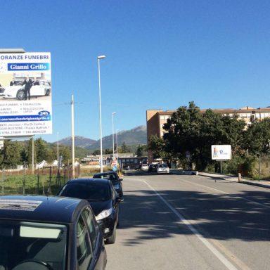 Cartelli pubblicitari Rieti Via Baroni