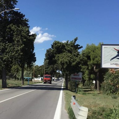 Cartelli pubblicitari SS16 Adriatica a Tortoreto