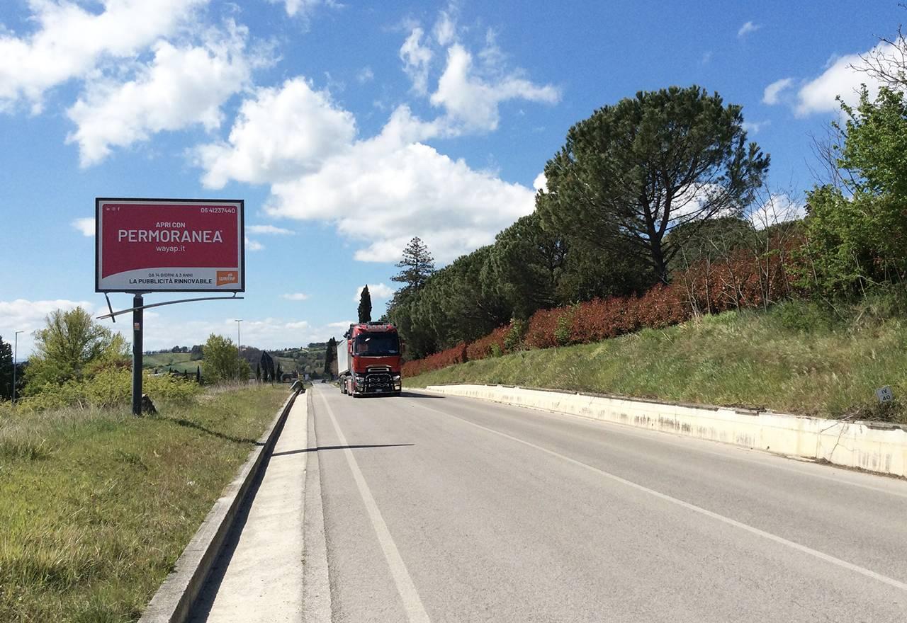 Cartelli pubblicitari Wayap a Perugia sulla SR 298 Eugubina