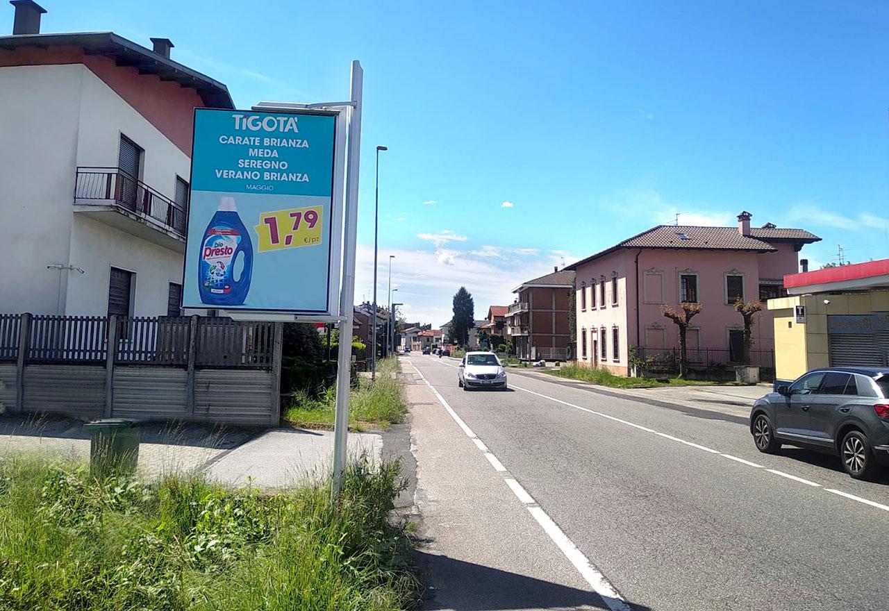 Cartello pubblicitario Carate Brianza via 4 novembre a Giussano