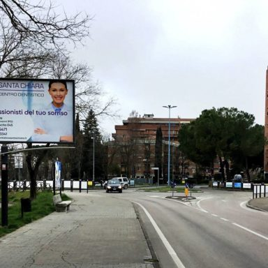 Cartello pubblicitario Via della Scuola a Perugia Ponte San Giovanni