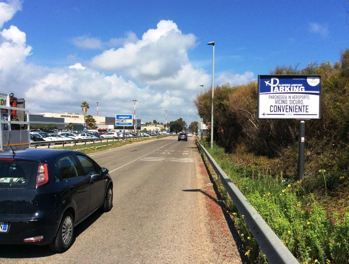 Cartello pubblicitario Wayap Aeroporto di Alghero