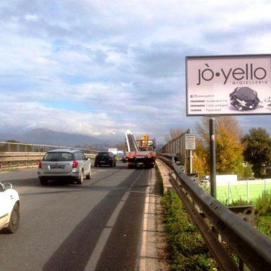 Cartello pubblicitario Wayap via Monti Lepini Frosinone