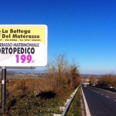 Cartello pubblicitario via Cassia Campagnano Nepi