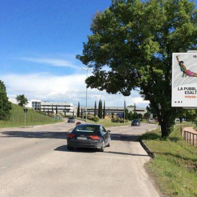 Cartellone pubblicitario via Corcianese a Perugia