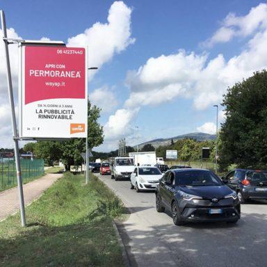 Cartelloni pubblicitari Wayap Perugia via Corcianese