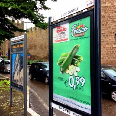 Impianti pubblicitari affissione Wayap Viale Capocci Viterbo